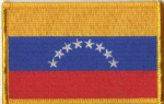 Venezuela Embroidered Flag Patch, style 08